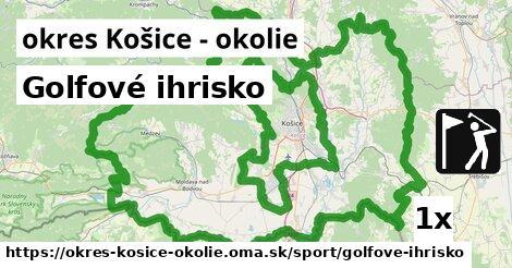 ilustračný obrázok k Golfové ihrisko, okres Košice - okolie