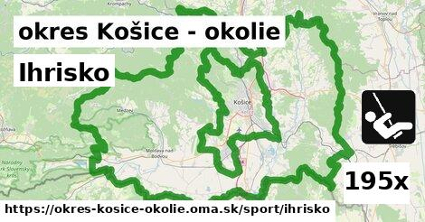 ihrisko v okres Košice - okolie