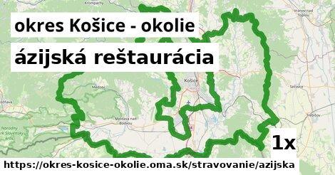 ázijská reštaurácia, okres Košice - okolie
