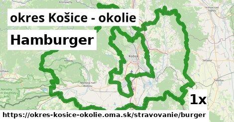 Hamburger, okres Košice - okolie