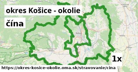 čína, okres Košice - okolie