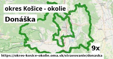 ilustračný obrázok k Donáška, okres Košice - okolie