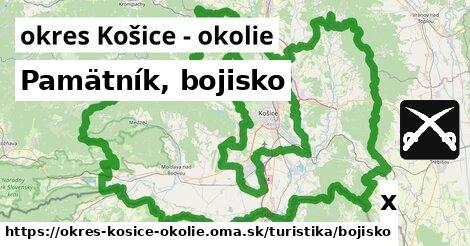 pamätník, bojisko v okres Košice - okolie