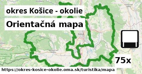 ilustračný obrázok k Orientačná mapa, okres Košice - okolie