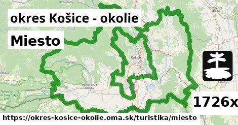 miesto v okres Košice - okolie