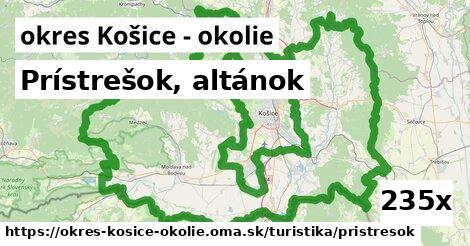 prístrešok, altánok v okres Košice - okolie