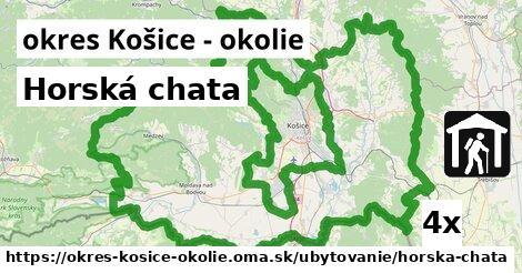 ilustračný obrázok k Horská chata, okres Košice - okolie
