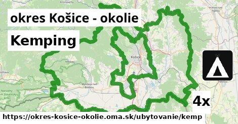 kemping v okres Košice - okolie