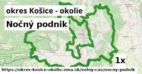 Nočný podnik, okres Košice - okolie