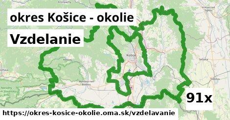 vzdelanie v okres Košice - okolie