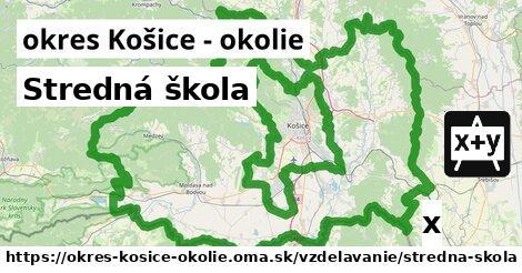ilustračný obrázok k Stredná škola, okres Košice - okolie