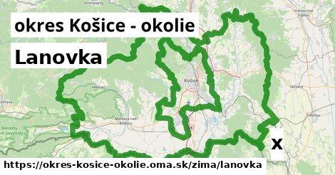 ilustračný obrázok k Lanovka, okres Košice - okolie
