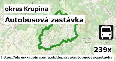 ilustračný obrázok k Autobusová zastávka, okres Krupina