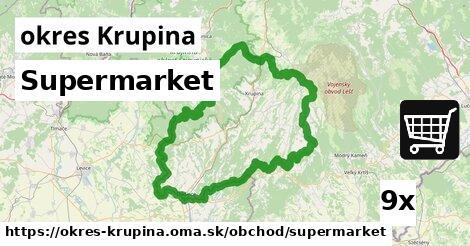 ilustračný obrázok k Supermarket, okres Krupina