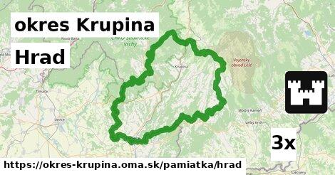 ilustračný obrázok k Hrad, okres Krupina
