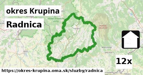 ilustračný obrázok k Radnica, okres Krupina