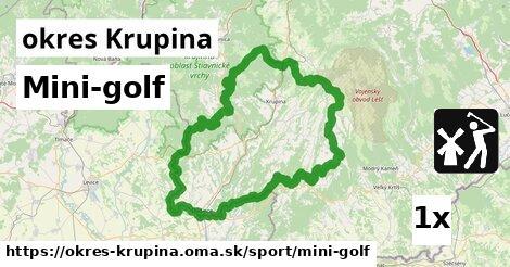 ilustračný obrázok k Mini-golf, okres Krupina