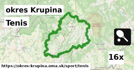 ilustračný obrázok k Tenis, okres Krupina