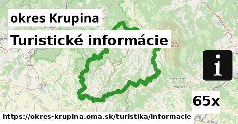ilustračný obrázok k Turistické informácie, okres Krupina