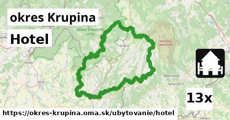 ilustračný obrázok k Hotel, okres Krupina