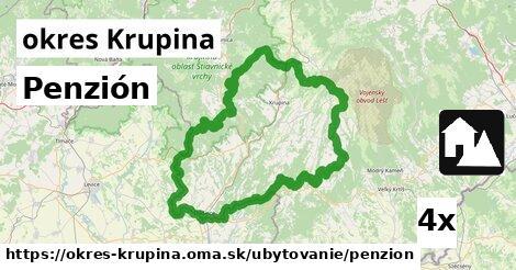 ilustračný obrázok k Penzión, okres Krupina
