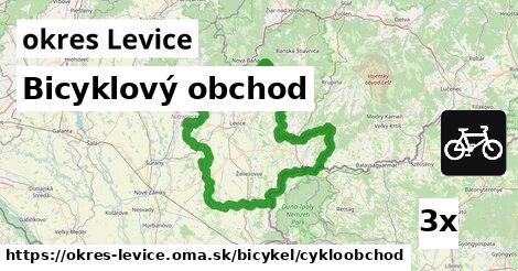 Bicyklový obchod, okres Levice