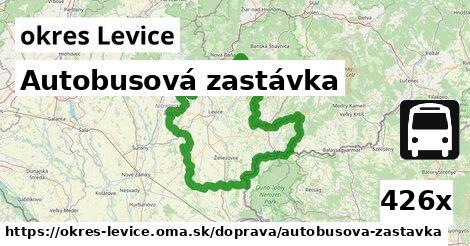 autobusová zastávka v okres Levice