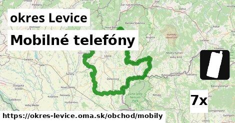 Mobilné telefóny, okres Levice