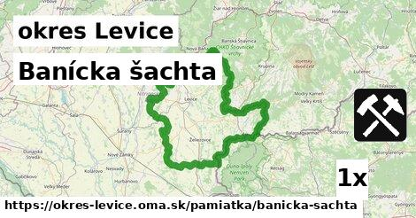 Banícka šachta, okres Levice
