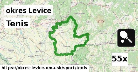 Tenis, okres Levice