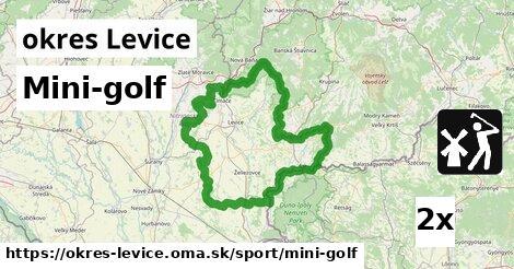 ilustračný obrázok k Mini-golf, okres Levice