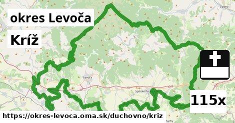 kríž v okres Levoča