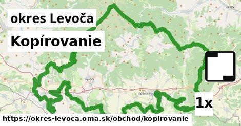 Kopírovanie, okres Levoča