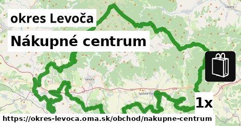 Nákupné centrum, okres Levoča