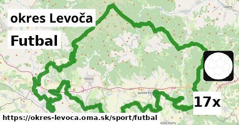 Futbal, okres Levoča