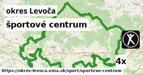 športové centrum, okres Levoča