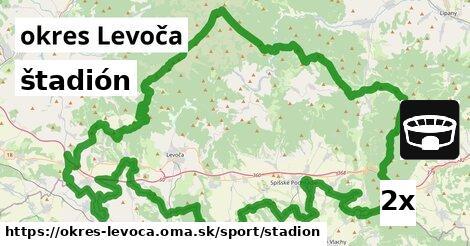 štadión, okres Levoča