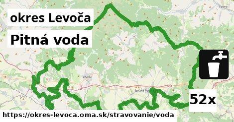 Pitná voda, okres Levoča