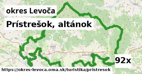 prístrešok, altánok v okres Levoča