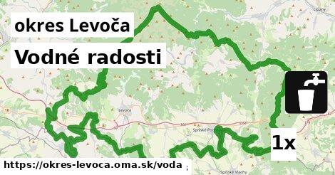 vodné radosti v okres Levoča