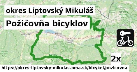 ilustračný obrázok k Požičovňa bicyklov, okres Liptovský Mikuláš