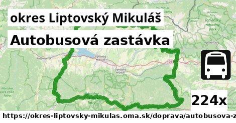 ilustračný obrázok k Autobusová zastávka, okres Liptovský Mikuláš