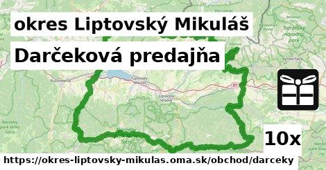 ilustračný obrázok k Darčeková predajňa, okres Liptovský Mikuláš