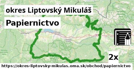 ilustračný obrázok k Papiernictvo, okres Liptovský Mikuláš