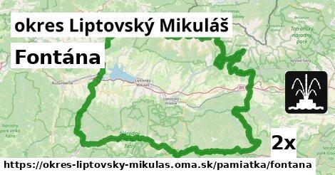 ilustračný obrázok k Fontána, okres Liptovský Mikuláš