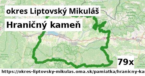 hraničný kameň v okres Liptovský Mikuláš