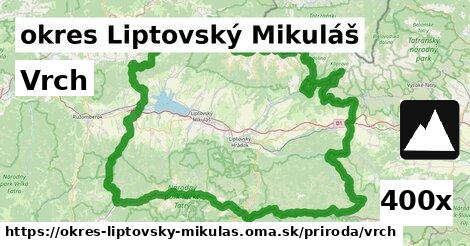 vrch v okres Liptovský Mikuláš
