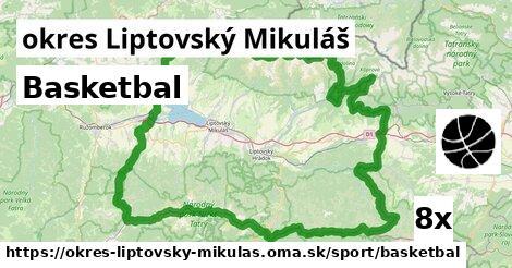 ilustračný obrázok k Basketbal, okres Liptovský Mikuláš