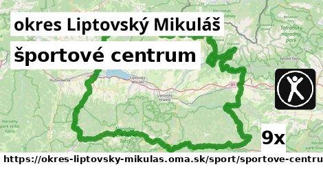 ilustračný obrázok k športové centrum, okres Liptovský Mikuláš