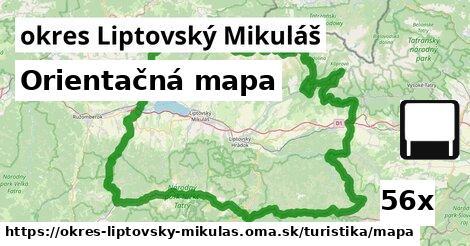 orientačná mapa v okres Liptovský Mikuláš